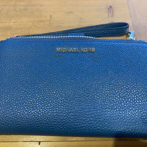 Michael Kors Adele Double-Zip Pebble Leather Phone